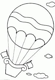 air balloon coloring page free download