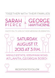 Wedding Invitations Atlanta Sample Of Wedding Invitation Wording Tags Sample Of Wedding