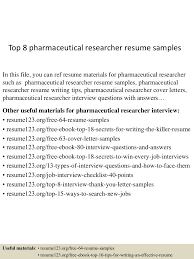 Sample Pharmaceutical Resume Top8pharmaceuticalresearcherresumesamples 150730075521 Lva1 App6891 Thumbnail 4 Jpg Cb U003d1438242967