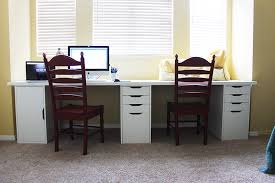 Office Furniture At Ikea by Office Space With The Ikea Alex System And Linnmon Table Tops