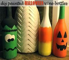 Wine Bottle Home Decor Boo Diy Repurposed Wine Bottle Halloween Decor Glamourita