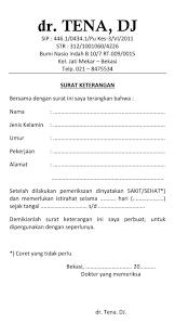 contoh surat keterangan sehat sakit dari dokter folder contoh surat