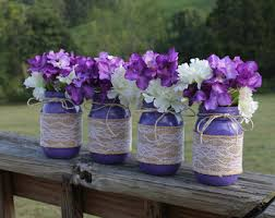 jar decorations for weddings burlap jars etsy