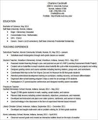 Teacher Resume Examples 2013 by Teacher Resume Examples 8 Samples In Word Pdf