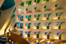 burj al arab inside hotel burj al arab interior stock image image of design modern