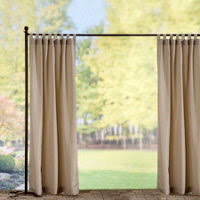 tab top semi opaque outdoor curtain panels taupe improvements