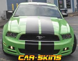 Satin Black Mustang Green Mustang U2013 Satin Black Racing Stripes Car Skins Gallery