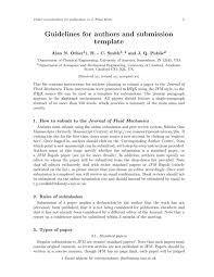 journal of fluid mechanics cambridge latex template