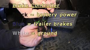 installation of a trailer brake controller on a 2012 chevrolet