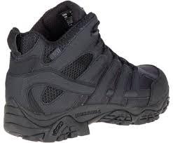 womens tactical boots canada moab 2 mid tactical waterproof boot black merrell