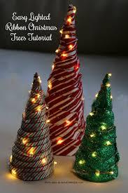 ribbon christmas tree easy lighted ribbon christmas tree