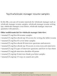 warehouse manager resume sample top8wholesalemanagerresumesamples 150514020544 lva1 app6892 thumbnail 4 jpg cb 1431569281