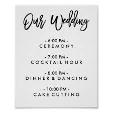 wedding day program wedding program framed artwork zazzle