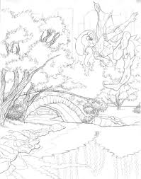scenery without colour nature coloring book teaching tip