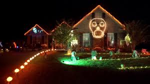 Christmas House Light Show by The Morley U0027s 2016 Halloween Light Show Youtube