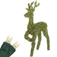 outdoor decorations 2 5 standing reindeer topiary