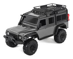 land rover 110 truck traxxas trx 4 land rover defender remote control truck gray ebay