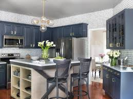 Paint Color For Kitchen by Navy Blue Paint Color For Kitchen Cabinet And Painted White Island
