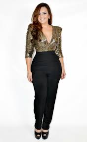 black and gold jumpsuit 692 black and gold duo embellished jumpsuit xarias clothing