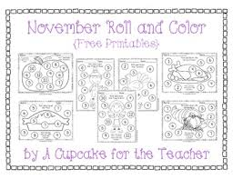 november roll and color free printables motor