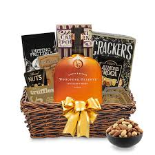 liquor gift baskets woodford reserve bourbon gift basket