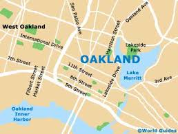 map of oakland oakland maps and orientation oakland california ca usa