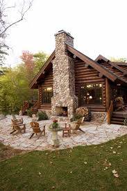 Best 10 Stone Cabin Ideas by Outdoor Fireplace My Homes Pinterest Log Cabins Cabin And Logs