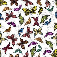 colorful seamless flying butterflies pattern butterfly pattern