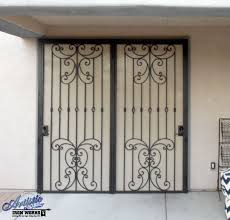 How To Secure Patio Doors Wrought Iron Security Screen Door For Patio Doors Wrought Iron