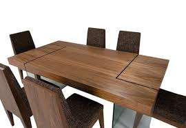 aura contemporary walnut floating dining table