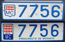 bureau des immatriculations plaque d immatriculation monégasque wikipédia