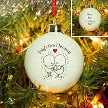 Baby S First Christmas Bauble 2012 Personalise by Chilli U0026 Bubble S Baby S First Christmas Bauble