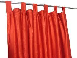 Sari Curtain Indian Sari Curtain Orange Tab Top Window Treatment Curtains
