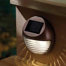 solar powered deck post lights moonrays mini round solar deck light 95027 products pinterest