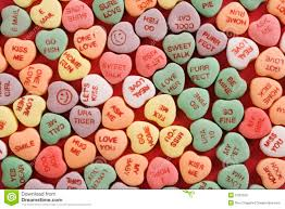 valentines heart candy sayings candy hearts on stock photo image of announcement 2432300