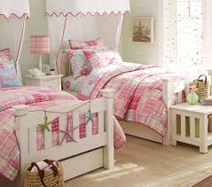 nautical themes kids room decor with pink stripe little girls with