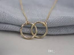 silver rings necklace images Wholesale 2015 gold and silver infinity double rings necklace for jpg