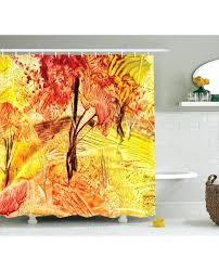 autumn leaves shower curtain home decorating interior design