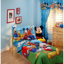 Duvets For Toddlers Disney Mickey Mouse Playground Pals 4 Piece Toddler Bedding Set