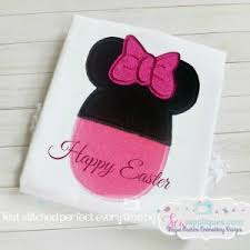 minnie mouse easter egg minnie mickey mouse easter egg applique quality machine embroidery