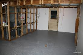 gray color epoxy basement floor paint for basement after remodel