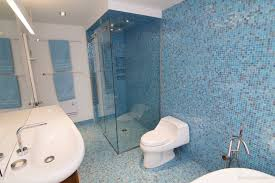 Blue Tile Bathroom by Confetti Cover Schluter Com