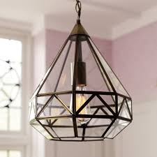 Brass Pendant Lights Zaria Antique Brass Glass Frame Pendant Light Laura Ashley