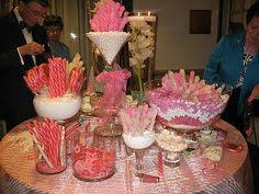 Pink And White Candy Buffet by Pink And White Candy Buffet By Ooh La La Lolly Bars Candy