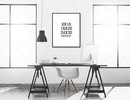 Minimalist Workspace Poster Mockup Minimalist Workspace Product Mockups Creative Market