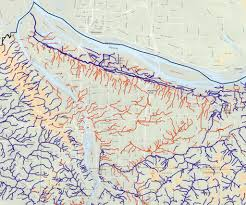 Maps Portland Oregon by T E R R A F L U X U S Hidden Hydrology Origins 3 Disappeared