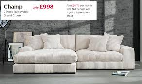 Sofa Beds Interest Free Credit by Fabb Sofas