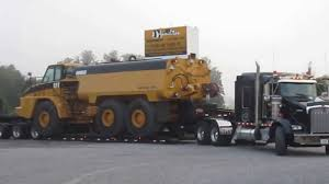 kenworth t800 semi truck kenworth t800 lowboy truck with liddell drop side rail youtube