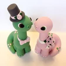 dinosaur wedding cake topper dinosaur wedding cake topper choose your colors
