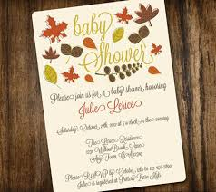 fall themed baby shower invitations marialonghi